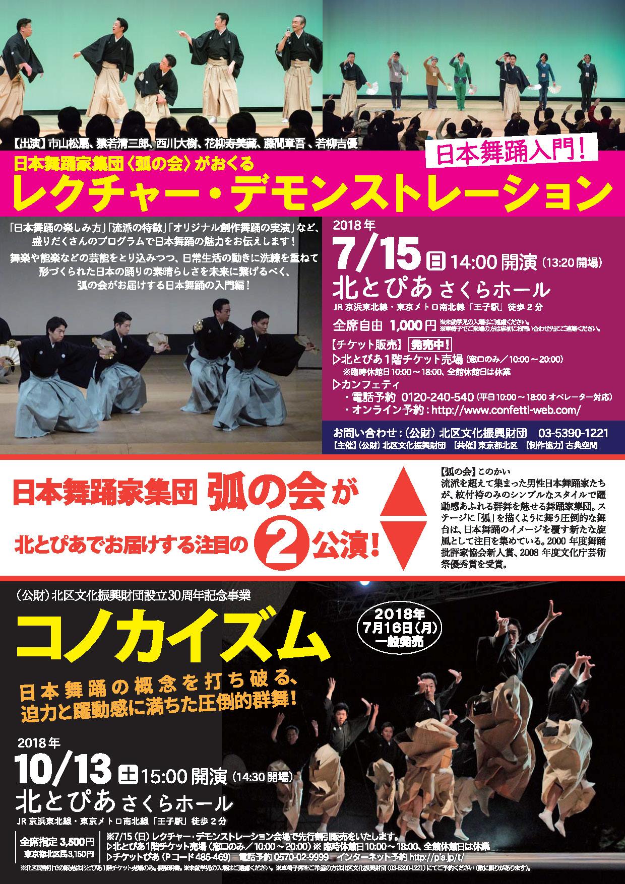 日本舞踊家集団 「弧の会」がおくる レクチャー・デモンストレーション