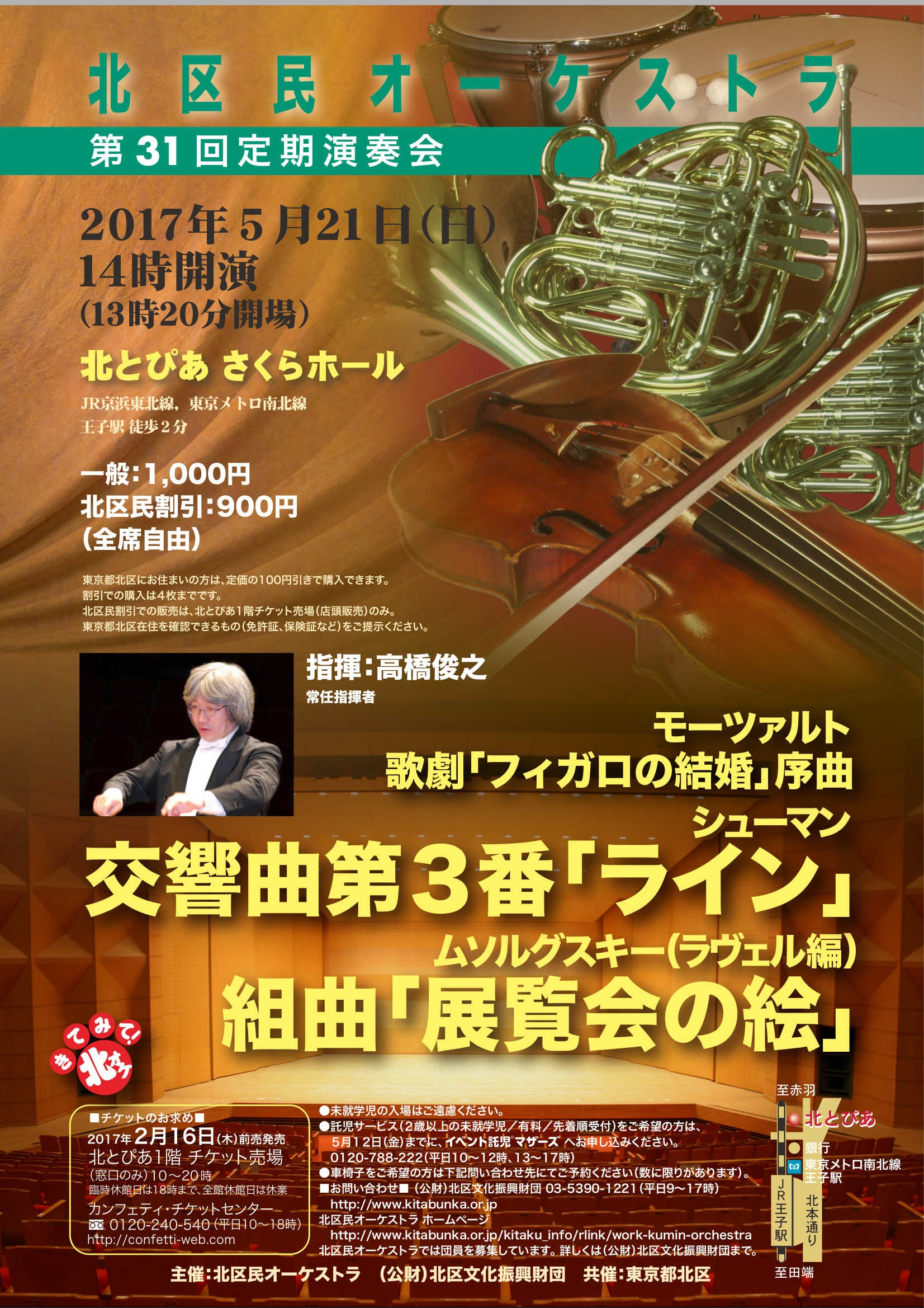 北区民オーケストラ 第31回定期演奏会